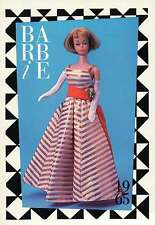 """Barbie Collectible Fashion Trading Card """" Holiday Dance """" Gloves, Purse, 1965"""