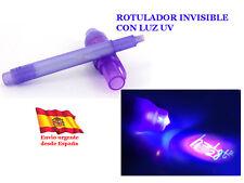 ROTULADOR CON TINTA INVISIBLE LUZ UV ultravioleta bromas examen