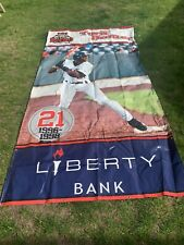 New Britain Rock Cats Stadium Banner Minor League Torii Hunter Liberty Bank 1996