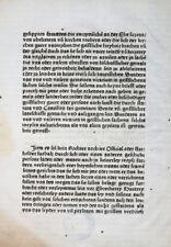 RECHT JURA INKUNABELBLATT STATUTA SYNODALIA HERBIPOLENSIA WÜRZBURG REYSER 1486
