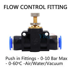 Pneumatic push-in Fittings Air Valve Water Hose Tube Pipe Connector Speed Joiner