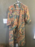 LuLaRoe Shirley Kimono $48 Size Small( 0-8) Long Multicolor Coverup Bright