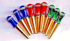 Cribbage Pegs 9-Brass Metal JewelTone Pegs, 3 Sizes, Free Velvet Pouch, USA _