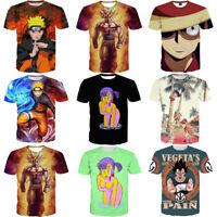 S-5XL Women Men Japanese Anime Character Cartoon 3D Print T-Shirt Casual Top Tee