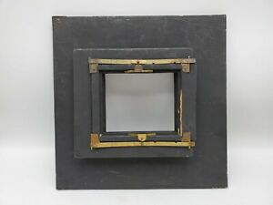"""Vintage Wooden 8x10 to 4x5 Large Format Camera Reducing Back 11 1/2"""" x 11 1/2"""""""