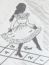 "Vintage Orig Antique Doll Ruffled Dress Franki's  Parisian Pattern Enid  9""- 29"""