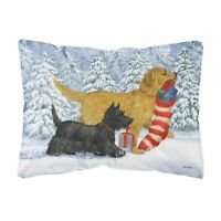CarolineTreasures Golden Retriever Keep Up There, Scottie! Fabric Decorative ...