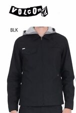 VOLCOM FACETED LIGHTWEIGHT UN-LINED JACKET - Men's 2XL / XXL (Black) NWT