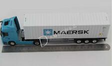 1:50 Maersk Benz refrigerator logistics freight truck container model