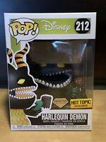 Funko Pop Harlequin Demon Diamond #212 Disney Hot Topic Exclusive + Protector