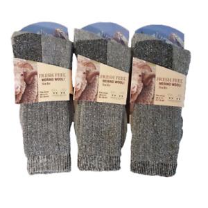 Men's Merino Wool Socks Outdoor Walking Work Boot Thermal Socks 6-11 Lot