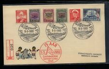 Greenland 19-21 on 1960 cover Ms0210