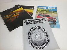 Mazda R-100 RX4 RX3 Lot of Brochures Road Test 1973 Vtg Rotary Engine design