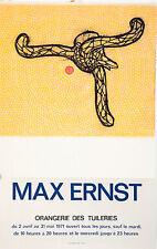 Max Ernst/ Original Lithografie  /Orangerie des Tuileries von 1971/ II