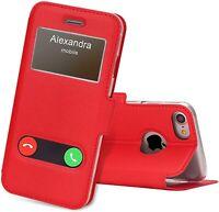 Pour tous les iPhones  –  Étui refermable avec clapet rabattable double fenêtres