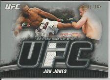 Jon Jones 2010 Topps UFC Knockout Fight Mat Relics Silver Card # FMJJ 141/188