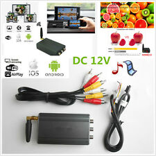 DC 12V Car Android IOS TV WiFi Mirror Link Adapter Smartphone Screen Video Kits