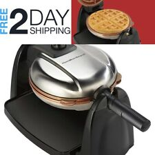 New listing Belgian Waffle Maker Non-Stick Removable Adjustable Plates Round Waffles Making