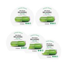 BNBG Vita Genic Relaxing Jelly Korean Face Sheet Mask Set 5ea Soothing Blemish