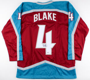 Rob Blake Signed Avalanche Jersey (Beckett COA) Playing career 1989–2010