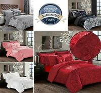 Luxury 3 Pcs Velvet Quilt Duvet Cover Pillow case Set Bedding & Filled Cushions