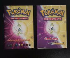Pokémon Neo Destiny Card List + Advanced Rulebook Versions 6 libretto regole TCG
