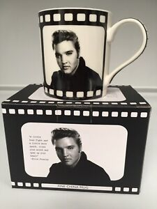 Elvis Presley Icons Mug cup Fine China Gift Boxed New Vintage look