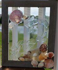 Sea Glass Ocean Beach Nautical Resin Picture Coastal FarmHouse
