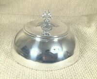 Antique Silver Plated Food Dome Plate Cover Cloche Bell Art Nouveau Jugendstil