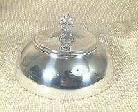 Antique Silver Plated Food Dome Plate Cover Cloche Bell Art Nouveau Jugendstil