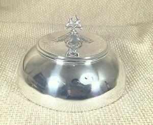 Argento Antico Placcato Cibo Cupola Piastra Cover Cloche Bell Arte Nouveau Art