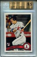 2011 Topps Update Baseball US175 Mike Trout Rookie Card Graded BGS Gem Mint 9.5