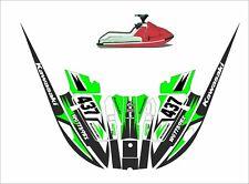 kawasaki 650 x2   jet ski wrap graphic pwc decals decal kit 1985 1995 racing gr