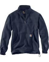 NEW! CARHARTT Rain Defender Paxton Quarter Zip Sweatshirt NAVY 102277-412 XL