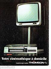 PUBLICITE ADVERTISING 086  1978  Thomson  magnétoscope couleur