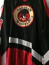 1995-96 COHL UHL SAGINAW WHEELS DARYL FILIPEK GAME WORN HOCKEY JERSEY