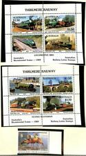 Australia Trains & Conservation Duch Mini Sheets & Stamp Mnh 1989