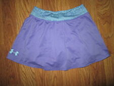 Girls UNDER ARMOUR HEAT GEAR skort skirt built n spandex shorts 6X