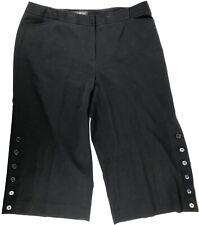 LANE BRYANT Women's Wide Leg Dress Capri Pant Black Size 16 EC
