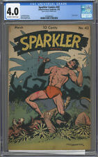 SPARKLER COMICS#42 CGC 4.0 OFF-WHITE TO WHITE PAGES 1945