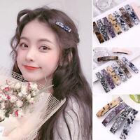 Women Leopard French Hair Clip Barrette Hairpins Accessories Fashion Gift