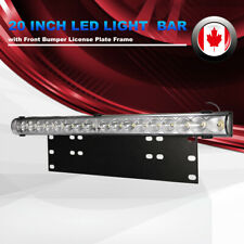 5400LM 20Inch LED Light Bar License Plate Light Bracket for Truck ATV SUV 4X4