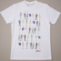 NWT $495 BRIONI Archive Print Suited Men Cotton T-Shirt Slim L (fits M) Tee
