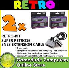 2x Retro-bit Super Retro16 SNES Joypad Extension Cable 6FT RB-SNES-1736 [03]