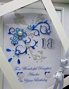 Personalised Handmade Birthday Any age / Anniversary 4,5,10,18,65 Card GIFT BOX