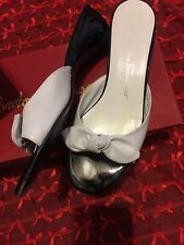 Salvatore Ferragamo Women's Size 7 B Black/white Wedge Heel Sandals