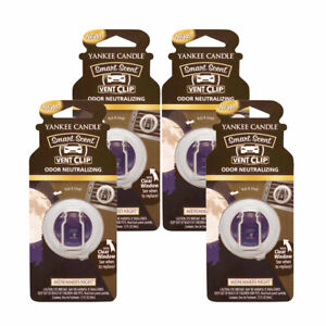 Yankee Candle Car Freshener Smart-Scent Vent Clips, 4-PACK (Midsummer's Night)