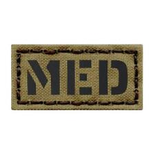Mini 1x2 IR Medical EMS Med Tan Coyote Tactical Morale Infrared Patch
