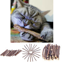 15/20PCS Cat Chew Toy Snacks Chew Catnip Stick Pet Teeth Molar Cleaning Brush