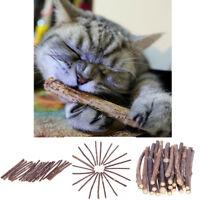 15/20PCS Cat Chew Toy Snacks Chew Catnip Stick Pet Teeth Molar Cleaning Brush